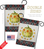 Colorful Pumpkin Thanksgiving - Thanksgiving Fall Vertical Impressions Decorative Flags HG192272 Made In USA