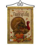 Thanksgiving Turkey - Thanksgiving Fall Vertical Impressions Decorative Flags HG113049 Made In USA