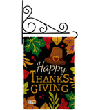 Happy Thanksgiving Leaves - Thanksgiving Fall Vertical Impressions Decorative Flags HG113062 Made In USA