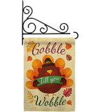 Gobble Till you Wabble - Thanksgiving Fall Vertical Impressions Decorative Flags HG113063 Made In USA