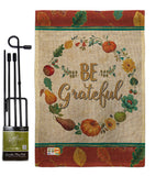Be Grateful - Thanksgiving Fall Vertical Impressions Decorative Flags HG113071 Made In USA