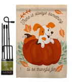 Something Thanksful For - Thanksgiving Fall Vertical Impressions Decorative Flags HG192293 Made In USA