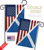 US Scotland Friendship - US Friendship Flags of the World Vertical Impressions Decorative Flags HG108390 Made In USA