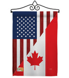 US Canada Friendship - US Friendship Flags of the World Vertical Impressions Decorative Flags HG108190 Made In USA