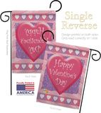 Valentine Heart - Valentines Spring Vertical Impressions Decorative Flags HG101047 Made In USA
