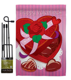 Chocolates - Valentines Spring Vertical Impressions Decorative Flags HG101044 Imported