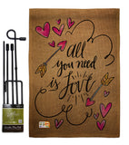 All You Need is Love - Valentines Spring Vertical Impressions Decorative Flags HG137051 Made In USA