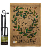 Love Valentine - Valentines Spring Vertical Impressions Decorative Flags HG137124 Made In USA