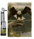 Majestic Showers - Wildlife Nature Vertical Impressions Decorative Flags HG110085 Made In USA