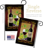 Wine a Bit - Wine Happy Hour & Drinks Vertical Impressions Decorative Flags HG117021 Made In USA