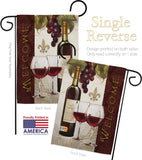 Welcome Wines - Wine Happy Hour & Drinks Vertical Impressions Decorative Flags HG117053 Made In USA