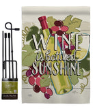Wine is Sunshine - Wine Happy Hour & Drinks Vertical Impressions Decorative Flags HG117047 Made In USA