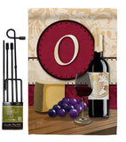 Wine O Initial - Wine Happy Hour & Drinks Vertical Impressions Decorative Flags HG130223 Made In USA