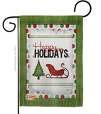 Classic Happy Holidays - Winter Wonderland Winter Vertical Impressions Decorative Flags HG114177 Made In USA