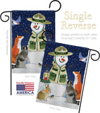 Lodge Snowmen - Winter Wonderland Winter Vertical Impressions Decorative Flags HG114206 Made In USA