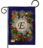 Winter E Initial - Winter Wonderland Winter Vertical Impressions Decorative Flags HG130083 Made In USA