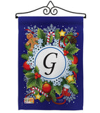 Winter G Initial - Winter Wonderland Winter Vertical Impressions Decorative Flags HG130085 Made In USA