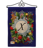 Winter X Initial - Winter Wonderland Winter Vertical Impressions Decorative Flags HG130102 Made In USA
