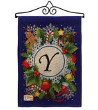 Winter Y Initial - Winter Wonderland Winter Vertical Impressions Decorative Flags HG130103 Made In USA