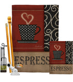 Espresso - Beverages Happy Hour & Drinks Vertical Impressions Decorative Flags HG117026 Made In USA