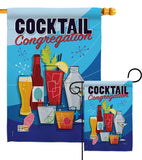 Congregation - Beverages Happy Hour & Drinks Vertical Impressions Decorative Flags HG117034 Made In USA