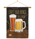 Craft Beer Brings Cheer - Beverages Happy Hour & Drinks Vertical Impressions Decorative Flags HG117052 Made In USA