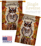 Owl Watching - Birds Garden Friends Vertical Impressions Decorative Flags HG105052 Made In USA