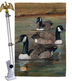 Geese - Birds Garden Friends Vertical Impressions Decorative Flags HG105049 Made In USA