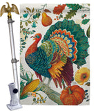 Suzani Turkey - Birds Garden Friends Vertical Impressions Decorative Flags HG105057 Made In USA