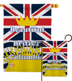 British Columbia - Canada Provinces Flags of the World Vertical Impressions Decorative Flags HG108164 Made In USA