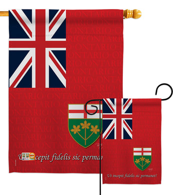 Ontario - Canada Provinces Flags of the World Vertical Impressions Decorative Flags HG108185 Made In USA