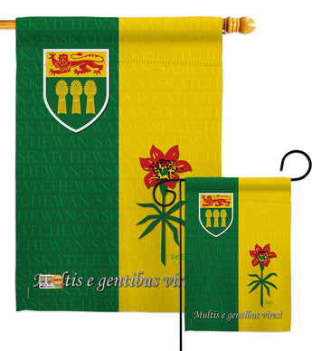 Saskatchewan - Canada Provinces Flags of the World Vertical Impressions Decorative Flags HG108188 Made In USA