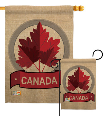 Happy Canada Day - Canada Provinces Flags of the World Vertical Impressions Decorative Flags HG137119 Made In USA