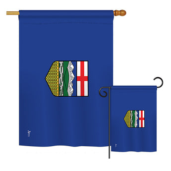 Alberta - Canada Provinces Flags of the World Vertical Impressions Decorative Flags HG140932 Printed In USA