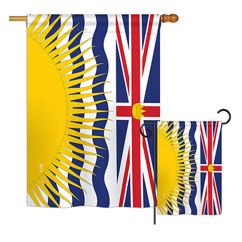 British Columbia - Canada Provinces Flags of the World Vertical Impressions Decorative Flags HG140933 Printed In USA