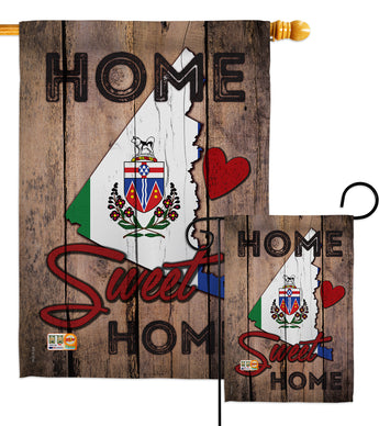 Canada Provinces Yukon Home Sweet Home - Canada Provinces Flags of the World Vertical Impressions Decorative Flags HG191171 Made In USA