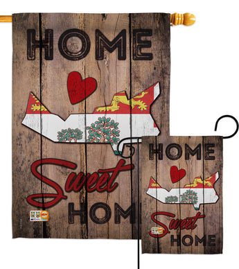 Canada Provinces Prince Edward Island Home Sweet Home - Canada Provinces Flags of the World Vertical Impressions Decorative Flags HG191183 Made In USA