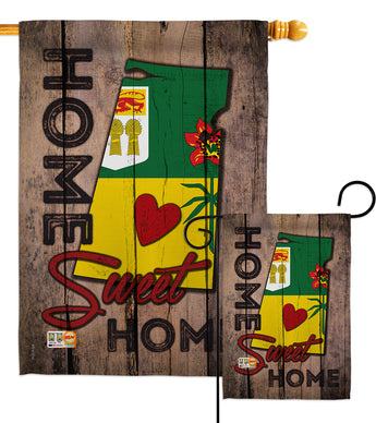 Canada Provinces Saskatchewan Home Sweet Home - Canada Provinces Flags of the World Vertical Impressions Decorative Flags HG191184 Made In USA