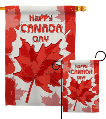 Maple Canada Day - Canada Provinces Flags of the World Vertical Impressions Decorative Flags HG192277 Made In USA