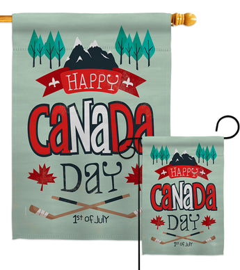 July 1st Canada Day - Canada Provinces Flags of the World Vertical Impressions Decorative Flags HG192278 Made In USA