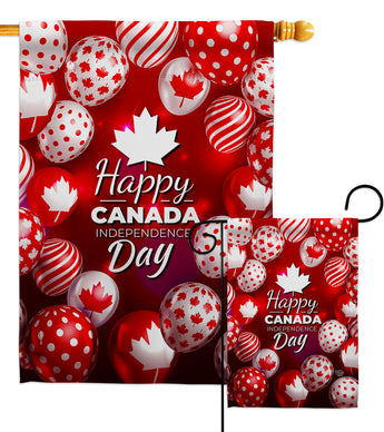 Happy Canada Day - Canada Provinces Flags of the World Vertical Impressions Decorative Flags HG192279 Made In USA