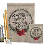Christmas Blessings - Christmas Winter Vertical Impressions Decorative Flags HG114169 Made In USA