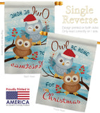 Owl Xmas - Christmas Winter Vertical Impressions Decorative Flags HG114004 Made In USA