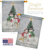 Snowman Family - Christmas Winter Vertical Impressions Decorative Flags HG114094 Made In USA
