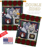 Christmas Calendar Kittens - Christmas Winter Vertical Impressions Decorative Flags HG114097 Made In USA