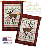 Cheer to Reindeer - Christmas Winter Vertical Impressions Decorative Flags HG114182 Made In USA