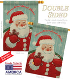 Sweet Home Santa - Christmas Winter Vertical Impressions Decorative Flags HG114200 Made In USA