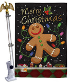 Gingerbread - Christmas Winter Vertical Impressions Decorative Flags HG114085 Made In USA