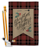 Glory to God - Christmas Winter Vertical Impressions Decorative Flags HG114168 Made In USA