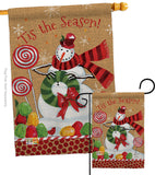 Sweet Celebrate Fun - Christmas Winter Vertical Impressions Decorative Flags HG114209 Made In USA